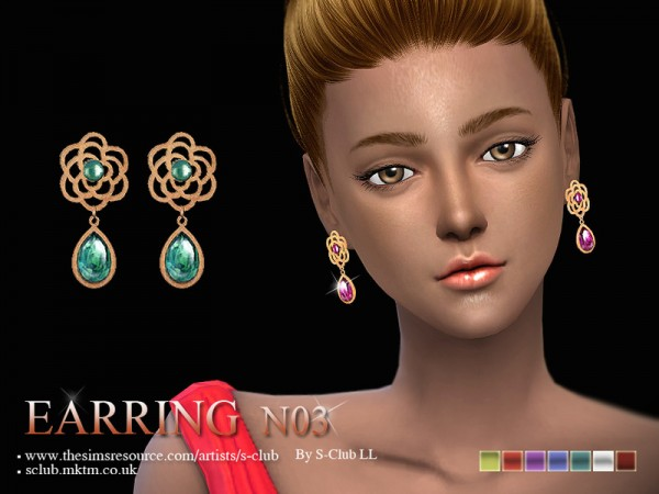 The Sims Resource: Earrings 03 by S  Club