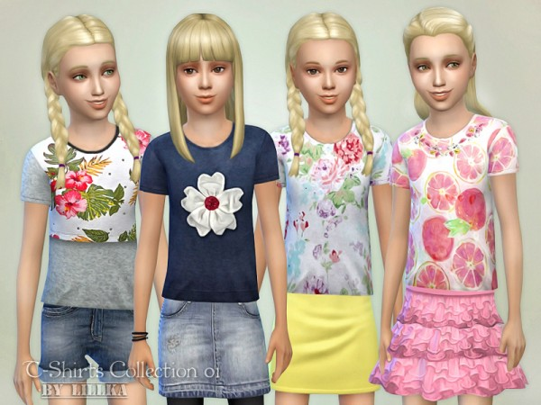 The Sims Resource: T Shirts Collection 01