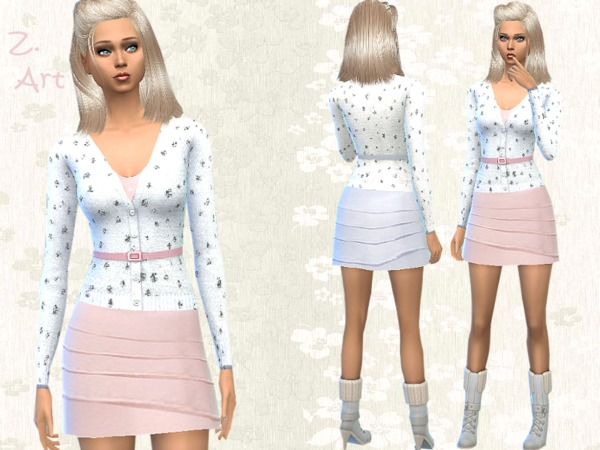 The Sims Resource: Pastello dress by Zuckerschnute20