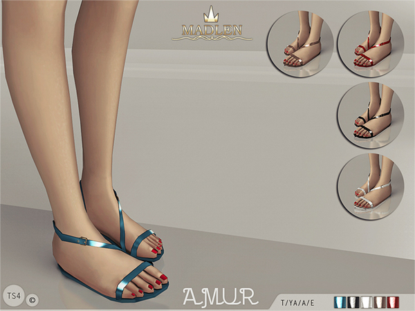 The Sims Resource: Madlen Amur Sandals by Mj95