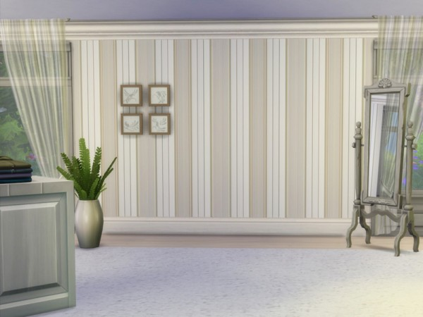 The Sims Resource: Vintage Striped Walls by Guardgian
