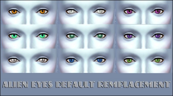 Mod The Sims Alien Eyes Default Remplacement By