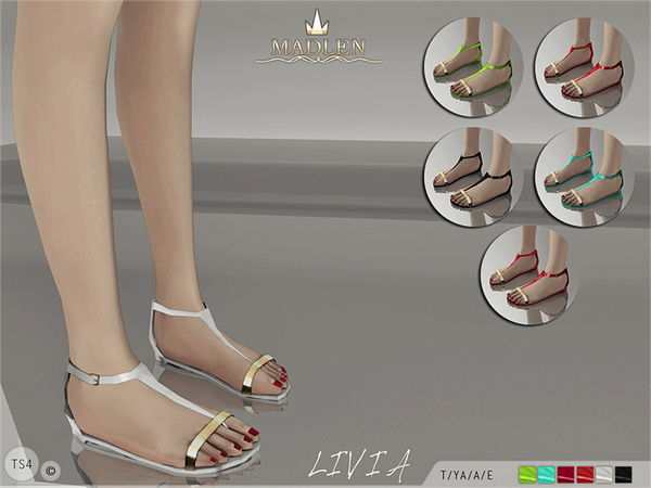 The Sims Resource: Madlen Livia Sandals by MJ95