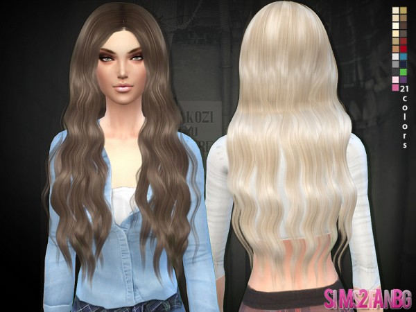 The Sims Resource: Hair 02   Long curly by Sims2fanbg