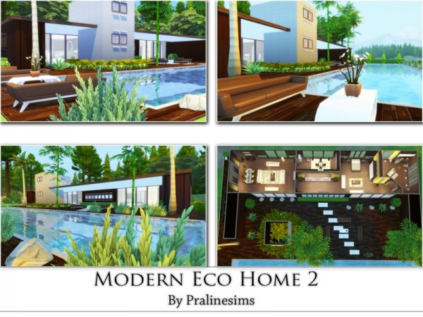 The Sims Resource: Modern Eco Home 2 by PralineSIms