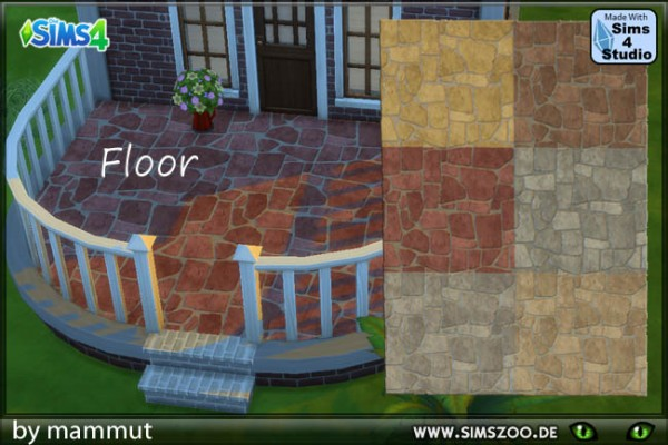Blackys Sims 4 Zoo: Floor panels multicolored by Mammut