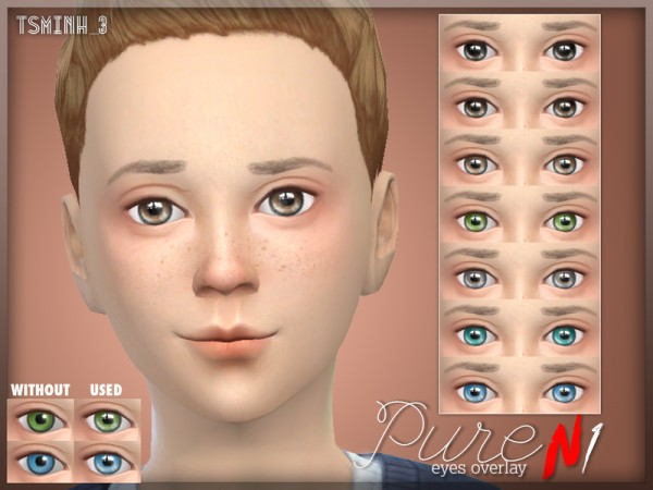 The Sims Resource: Pure Eyes Overlay by Tsminh 3
