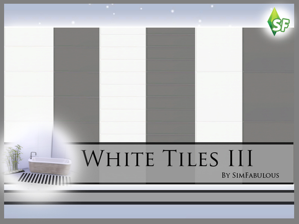 The Sims Resource White Tiles Wall Set By Sim Fabulous