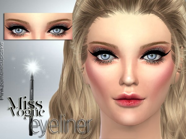 The Sims Resource: Miss Vogue Eyeliner by Pinkzombiecupcake
