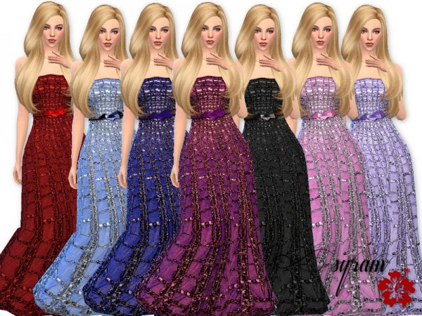 The Sims Resource Glitter Evening Dress By Esyram Sims