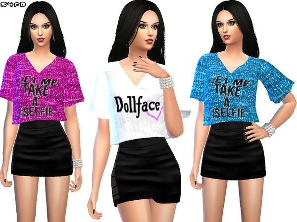 The Sims Resource Sassy T Shirts By Divadelic06 Sims 4