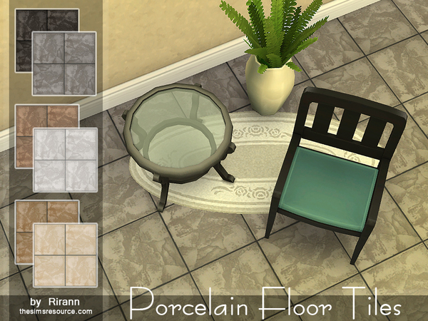 The Sims Resource: Porcelain Floor Tiles by Rirann