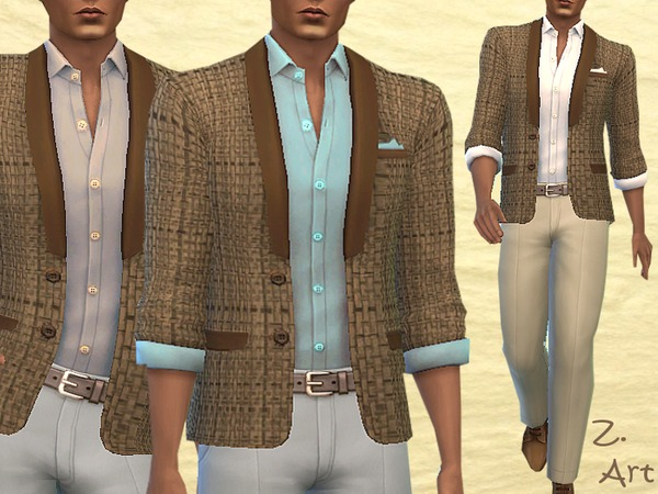 The Sims Resource: Casual jacket by Zuckerschnute20