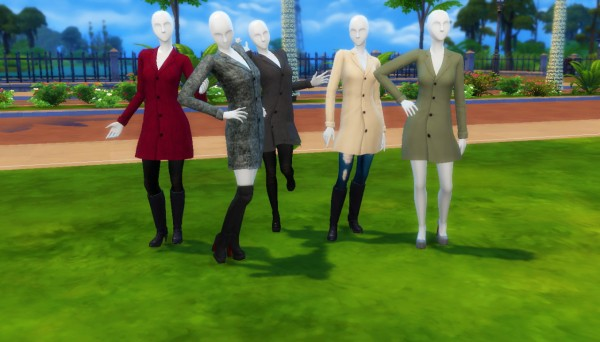 Marvin Sims Snazzy Trench Coats Sims 4 Downloads