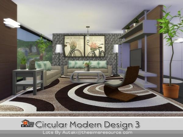 The Sims Resource: Circular Modern Design 3  by Autaki