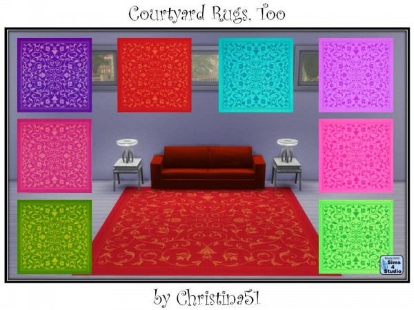 Mod The Sims: Courtyard Rugs, Too by Christina51