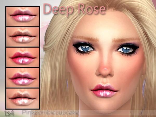 The Sims Resource: Deep Rose Lipgloss by Pinkzombiecupcake