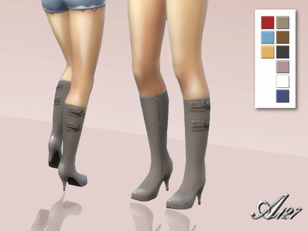 The Sims Resource: Leather boots by Altea127