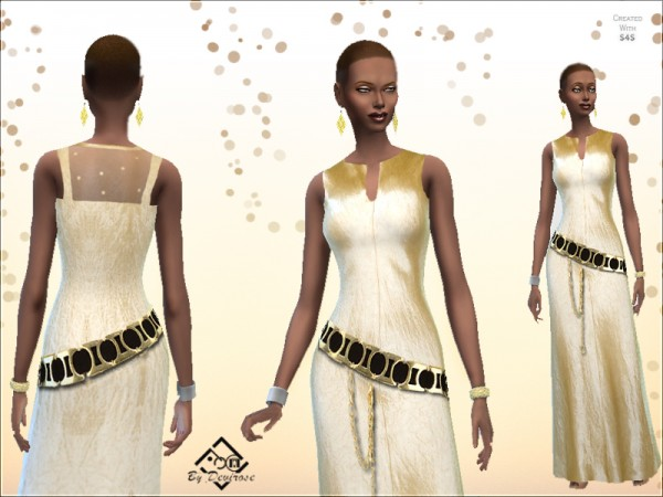 The Sims Resource: Satin Dream Dress by Devirose