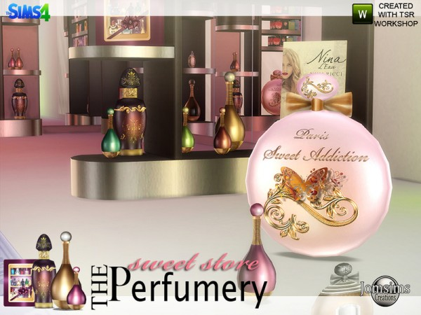 The Sims Resource: The Perfumery sweet store by Jomsims