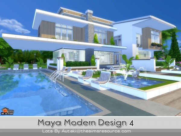 The sims resource maya modern design 4 by autaki sims 4 for Home design resources