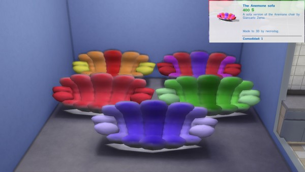 Mod The Sims: The Anemone living room set by necrodog
