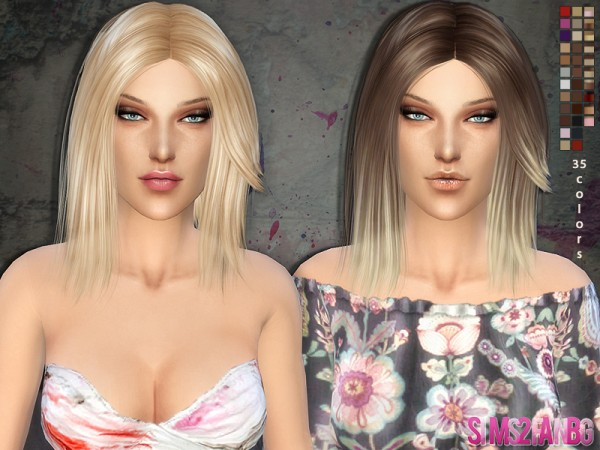 The Sims Resource: Medium Hair   01 by Sims2fanbg