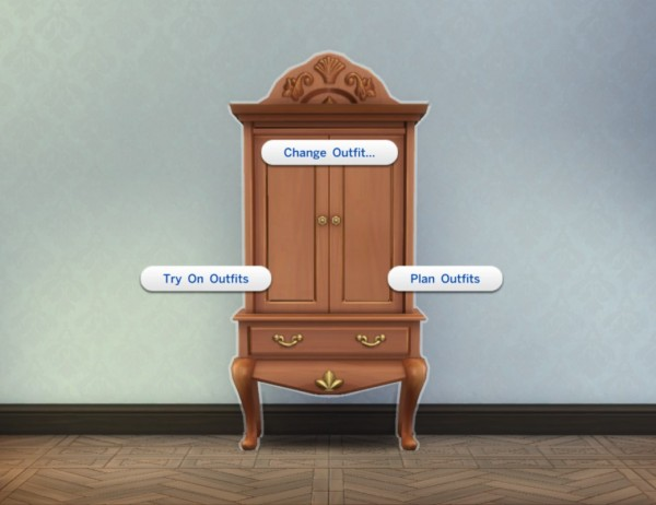 """Mod The Sims: """"Sea Princess"""" Armoire by plasticbox"""