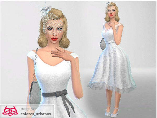 The Sims Resource  Rockabilly dress lace dress by Colores Urbanos. The Sims Resource  Rockabilly dress lace dress by Colores Urbanos