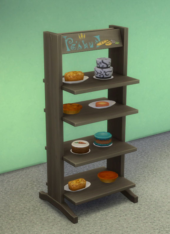 Mod The Sims Decluttered Tower Of Treats Display Shelves