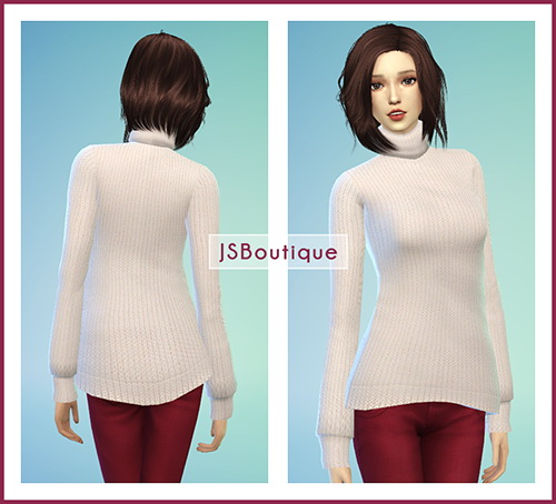 JS Boutique: Asym Turtleneck Sweater