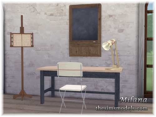 The Sims Models: Study desk set by Milana