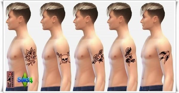 Annett`s Sims 4 Welt: Upper Arm Tattoos for Women & Men