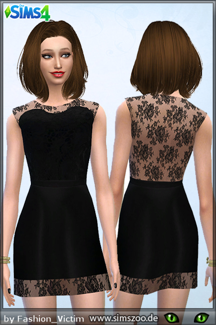 Blackys Sims 4 Zoo: Little Black Dress by Fashion Victim