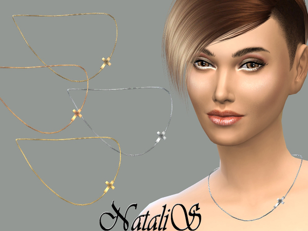 The Sims Resource: Cross chain necklace by NataliS
