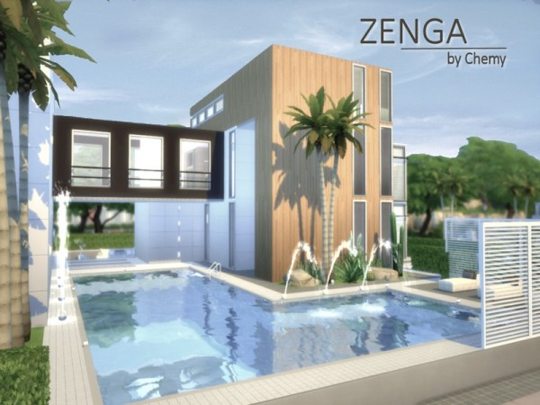 The sims resource zenga house by chemy sims 4 downloads for Best house designs sims 4