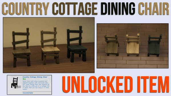 Mod The Sims: Country Cottage Dining Chair by ironleo78