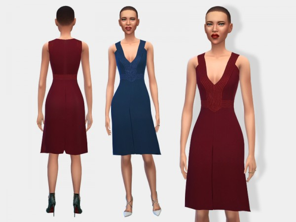 The Sims Resource: Two 70s Inspired Dresses by dodence bt