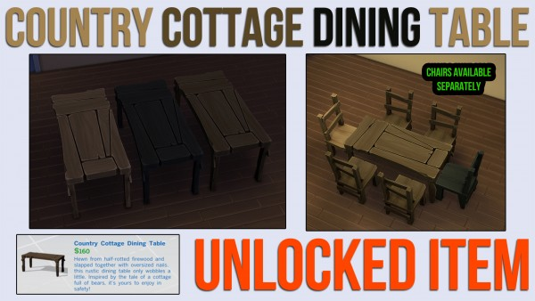 Mod The Sims: Country Cottage Dining Table by ironleo78