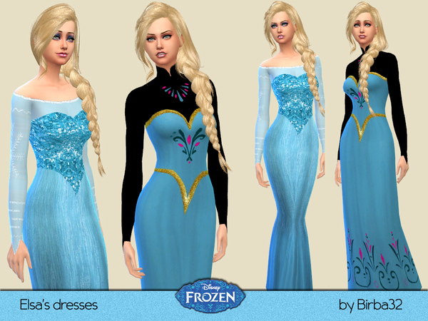 The Sims Resource: Frozen   Elsas dresses by Birba32