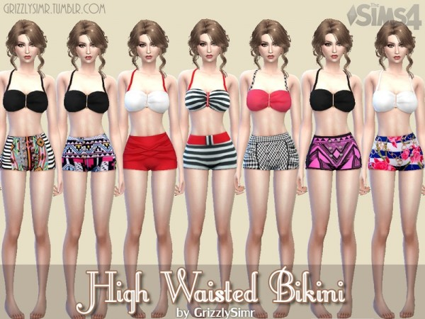 The Sims Resource: High Waisted Bikini by GrizzlySimr
