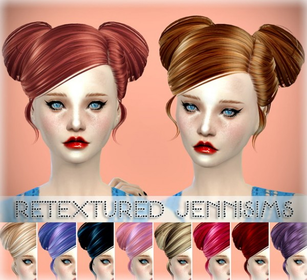 Jenni Sims: Butterflysims 078 Hair and 091 retextured