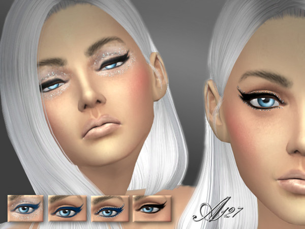 The Sims Resource: Crystals eyeliner by Altea127