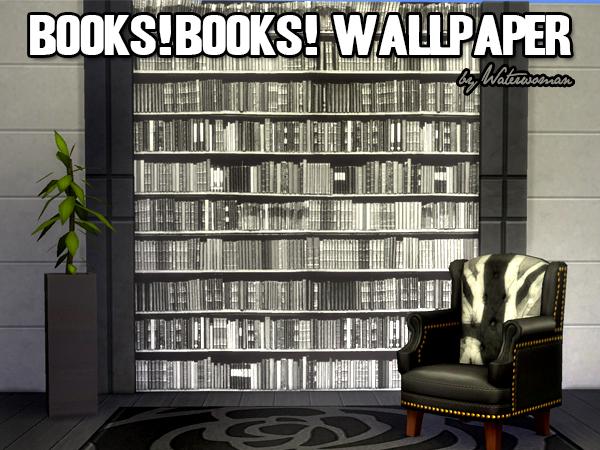 Akisima Sims Blog: Books! Books! Books! Wallpaper