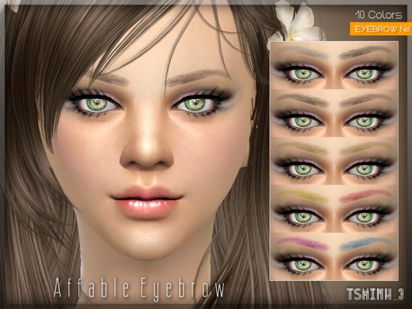 The Sims Resource: Affable Eyebrow by Tsminh 3