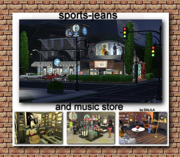 Architectural tricks from Dalila: Sports jeans and music store