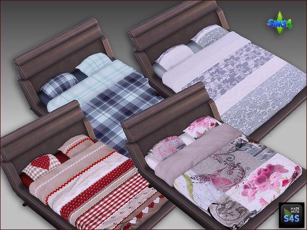 Arte Della Vita: 2 recolored double beds with 4 beddings