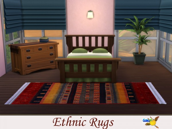 The Sims Resource: Ethnic Rugs by Evi