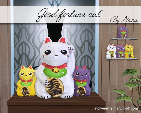 Nolween: Good Fortune cat large and small size   BY NANA
