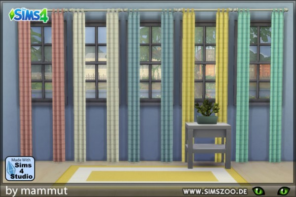 Blackys Sims 4 Zoo: Curtains pastel 1 by mammut